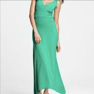 NWT Anne Taylor Green Knit Maxi Dress L